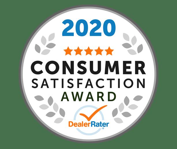2020 DealerRater Consumer Satisfaction Award