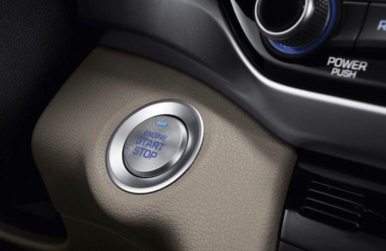 push button start in the 2020 hyundai elantra