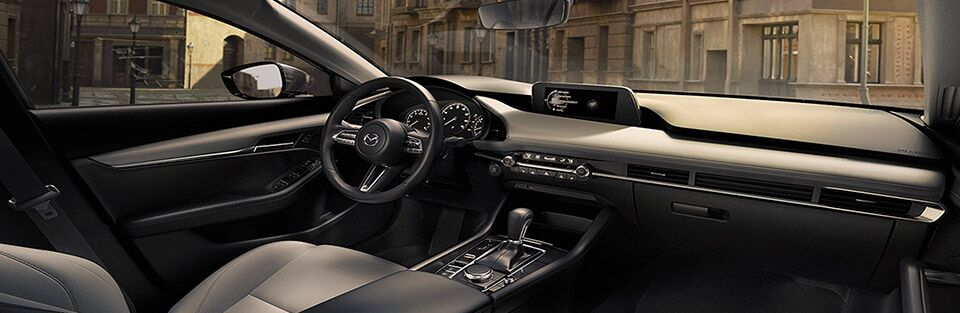 Interior cabin of a 2019 Mazda3