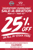 Parts Inventory Sale-a-bration