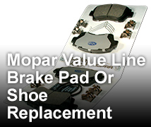 Brake Pad <br> Or Shoe Replacement