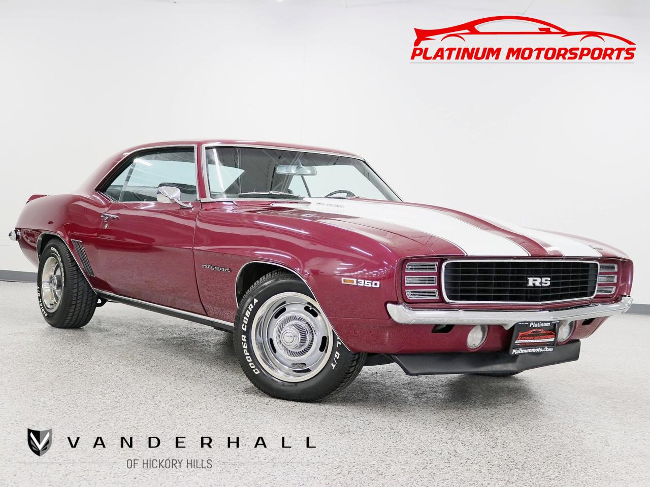1969 Chevrolet Camaro RS 4 Speed Manual RS Hide Away Lights Rally Rims Cowl Hood Rally Stripes Hickory Hills IL