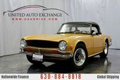 1971 Triumph TR6 Carbureted Straight V6 Engine 4 Speed Manual Transmission with Fully Rebuilt Engine, Carburetors and Exhaust, Upgraded Springs and Struts