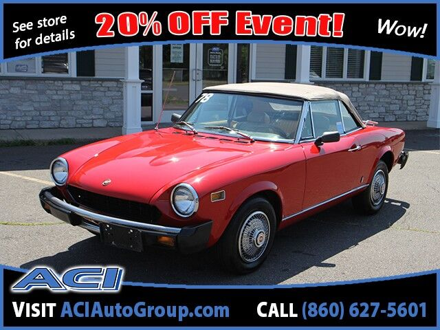 1978 FIAT 124 Spider Convertable  East Windsor CT