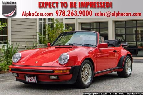 1986 Porsche 911 Carrera Wide Body Cabriolet M491 Turbo Look Boxborough MA