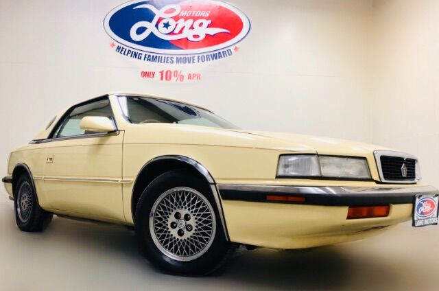1990 Chrysler TC By Maserati Convertible Austin TX