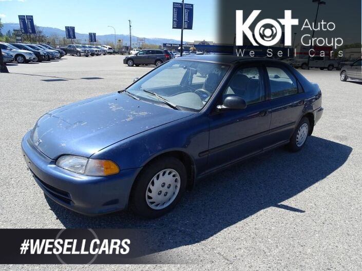 1995 Honda Civic SE Manual Transmission, No Accidents! Air Conditioning Kelowna BC