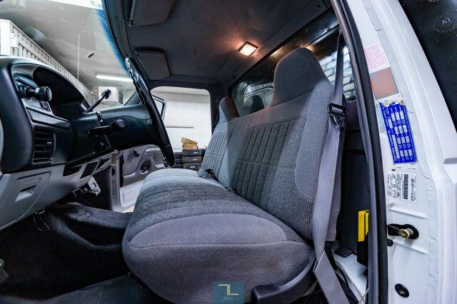 1997 Ford F-450 4x2 Reg Cab XLT Dump Box 7.3L Powerstroke Diesel Red Deer AB