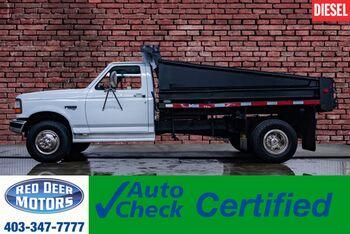 1997_Ford_F-450_4x2 Reg Cab XLT Dump Box 7.3L Powerstroke Diesel_ Red Deer AB