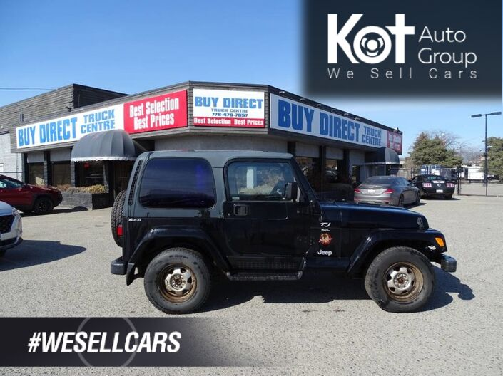 1997 Jeep TJ Sahara 4x4 Manual Transmission Kelowna BC