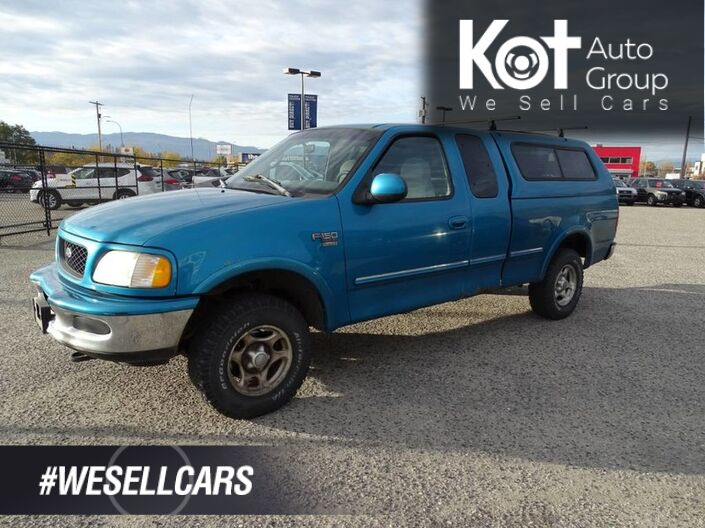 1998 Ford F-150 Series XLT, Canopy, Hitch, V8 4X4 Kelowna BC