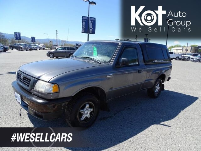 1998 Mazda 2WD B-Series Pickup SX, Manual Transmission, Canopy, New Front Brakes and Clutch Kelowna BC