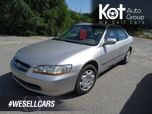 1999 Honda Accord Sdn LX, Locally Driven, Family Vehicle, Aftermarket Deck