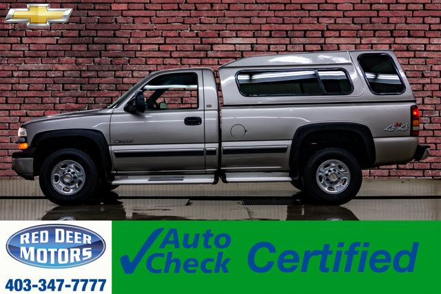 2000 Chevrolet Silverado 2500 4x4 Reg Cab LT Longbox Topper Red Deer AB