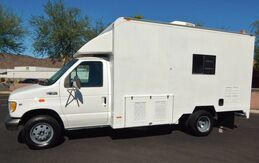 2000_Ford_E450 SELF CONTAINED WORKSHOP ROOF A/C_V10 ONAN 6500 GENERATOR AIR COMPRESSOR_ Phoenix AZ