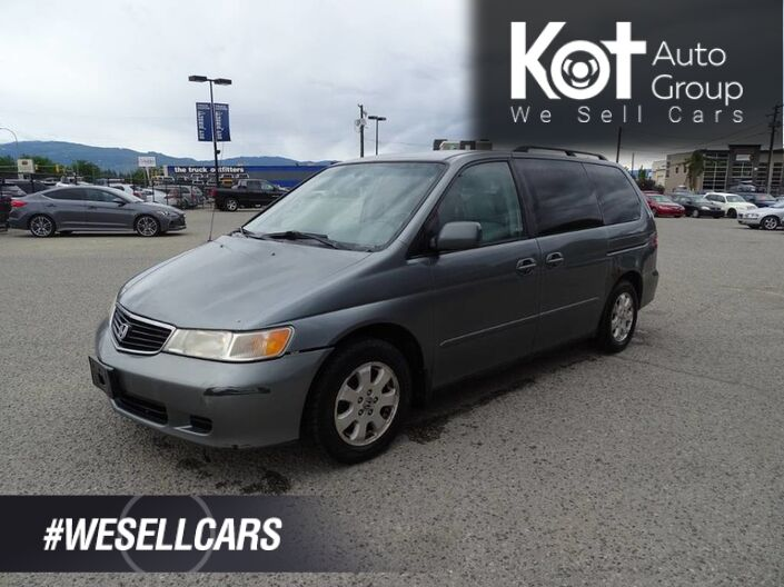 2000 Honda Odyssey EX, NEW Windshield, Two Captain seats and Bench Seating Kelowna BC