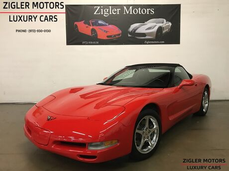 2001 Chevrolet Corvette Convertible Red One Owner 21kmi Clean Carfax Showroom condition Addison TX