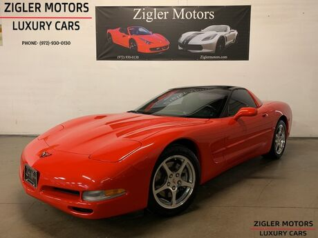 2001 Chevrolet Corvette Coupe 6-Speed Manual low miles Heads-Up Display Glass Roof Addison TX