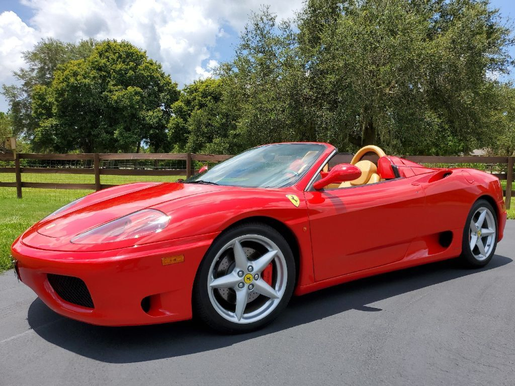 2001 Ferrari 360 SPIDER~ RED/TAN!! ~F1~ CLEAN HISTORY! BEST COLORS!~SHIPPING AVAILABLE! Sarasota FL