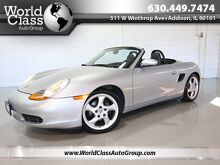 2001_Porsche_Boxster_ROADSTER - 1 OWNER HARD TOP INCLUDED BLACK SOFT TOP CONVERTIBLE BLACK LEATHER_ Chicago IL