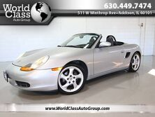 Porsche Boxster ROADSTER - 1 OWNER HARD TOP INCLUDED BLACK SOFT TOP CONVERTIBLE BLACK LEATHER 2001