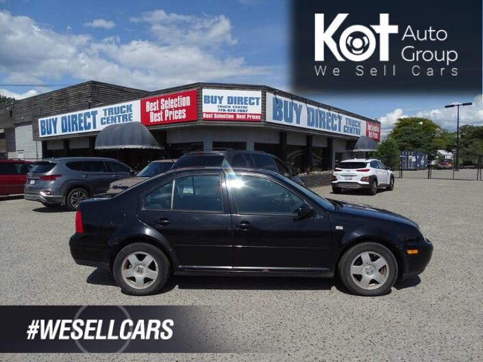 2001 Volkswagen Jetta GLS, Manual Transmission, Heated Seats Kelowna BC