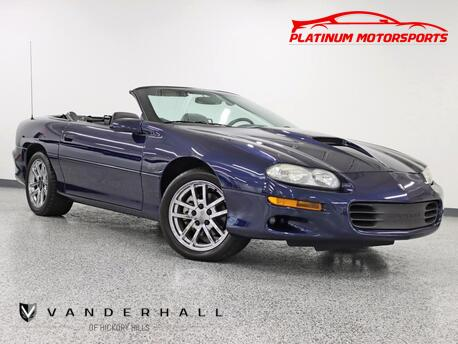 2002_Chevrolet_Camaro SS Convertible_Rare Hurst 6 Speed 1 of 86 Produced Leather Chrome Factory Rims_ Hickory Hills IL