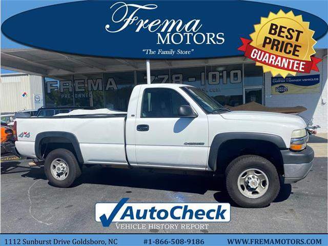 2002 Chevrolet Silverado 2500HD Base 4x4 Regular Cab 8 ft. box 133 in. WB Goldsboro NC