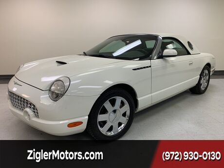 2002 Ford Thunderbird w/Hardtop Deluxe One Owner low miles Clean Carfax PRISTINE CLEAN Addison TX
