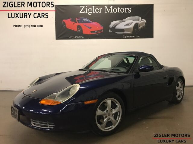 2002 Porsche Boxster Sport Convertible Tiptronic low miles One Owner Clean Carfax Addison TX
