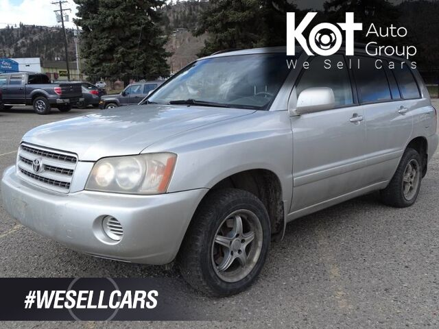2002 Toyota Highlander Tow Package, V6 4x4 Kelowna BC