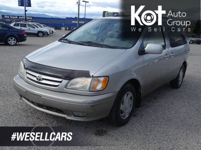 2002 Toyota Sienna LE, Sunroof, Heated Leather Seats, Second Row Bucket Seats, JBL Kelowna BC