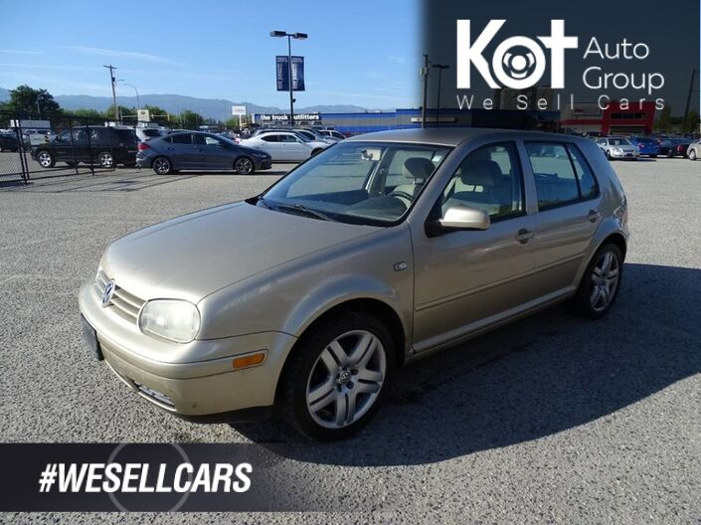 2002 Volkswagen Golf GLS, Manual Transmission, Heated Seats Kelowna BC