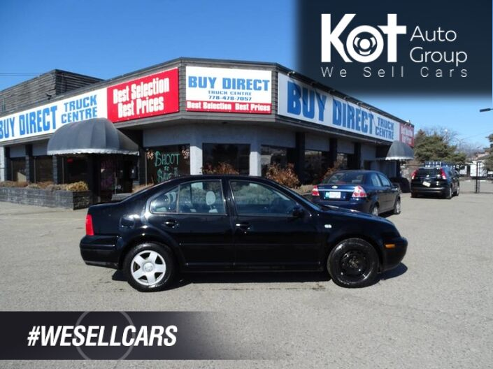 2002 Volkswagen Jetta GLS, Manual Transmission, Sunroof Kelowna BC