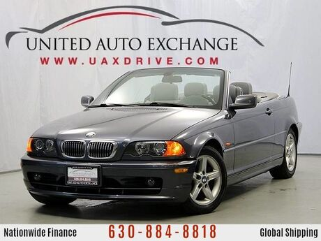2003 BMW 3 Series 325Ci Convertible RWD Fully Lined Soft Top w/rear Glass Window Addison IL