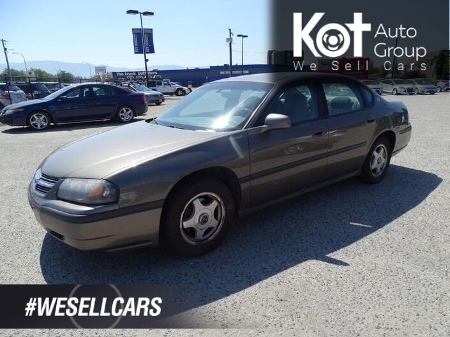 2003 Chevrolet Impala Power Locks and Windows, Cruise Control, Good Condition Kelowna BC
