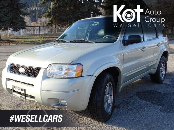 2003 Ford Escape Limited 4X4 V6, Heated Leather Seats, Sunroof, Low KM's Kelowna BC