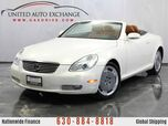 2003 Lexus SC 430 4.3L V8 Engine Convertible Coupe RWD 10-way Heated Power Leather Front Seats w/Power Lumbar Support, Mark Levinson Premium Sound System