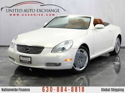 2003_Lexus_SC 430_4.3L V8 Engine Convertible Coupe RWD 10-way Heated Power Leather Front Seats w/Power Lumbar Support, Mark Levinson Premium Sound System_ Addison IL