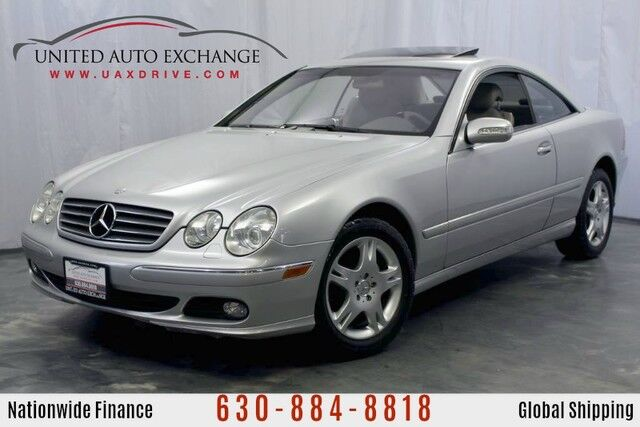 2003 Mercedes-Benz CL-Class CL500 5.0L V8 Engine RWD Coupe w/ Navigation, Sunroof, Power Heated Seats, Xenon Headlamps, Rear Center Console Addison IL