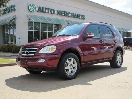 2003 Mercedes-Benz M-Class ML500 LEATHER, SUNROOF, INEGRATED TURN SIGNALS, AM/FM RADIO, CLIMATE CONTROL, CRUISE CONTROL Plano TX