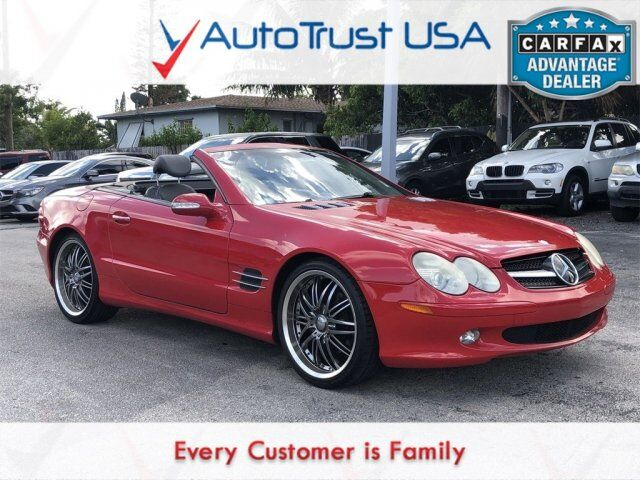 2003 Mercedes-Benz SL-Class SL 500 CLEAN CARFAX LEATHER WALNUT TRIM HEATED SEATS Miami FL