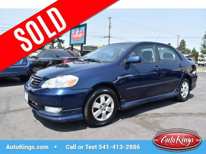 2003 Toyota Corolla 4dr Sdn S Auto Bend OR