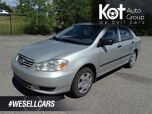 2003 Toyota Corolla CE, Manual Transmission, NO ACCIDENTS!!