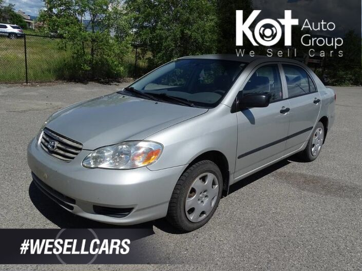 2003 Toyota Corolla CE, Manual Transmission, NO ACCIDENTS!! Kelowna BC