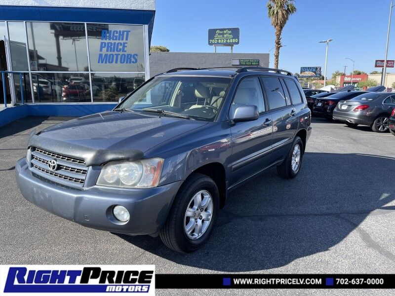 2003 Toyota Highlander Limited Las Vegas NV