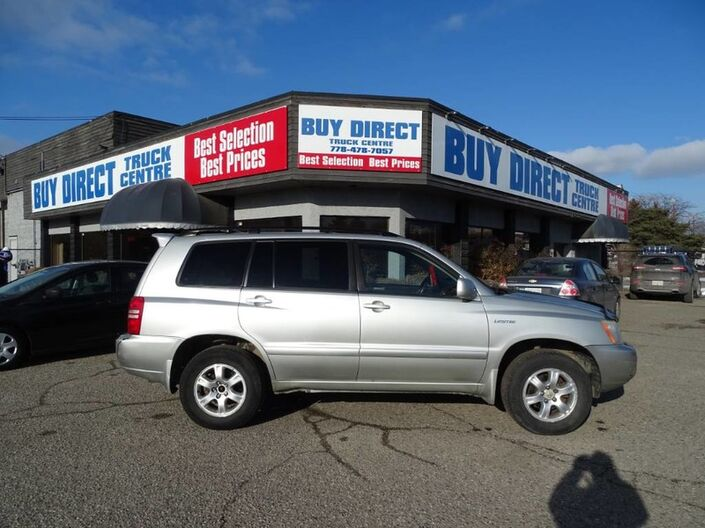 2003 Toyota Highlander V6 4X4, Power Locks, Windows, and Front Seats, Heated Leather Seats, Sunroof, Kelowna BC