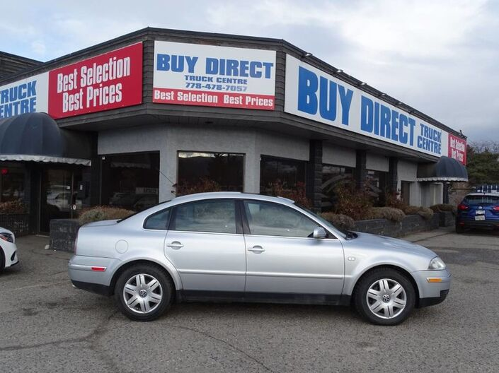 2003 Volkswagen Passat W8 V8 4MOTION, Sunroof, Heated Leather Seats, Power seats, locks and windows Kelowna BC
