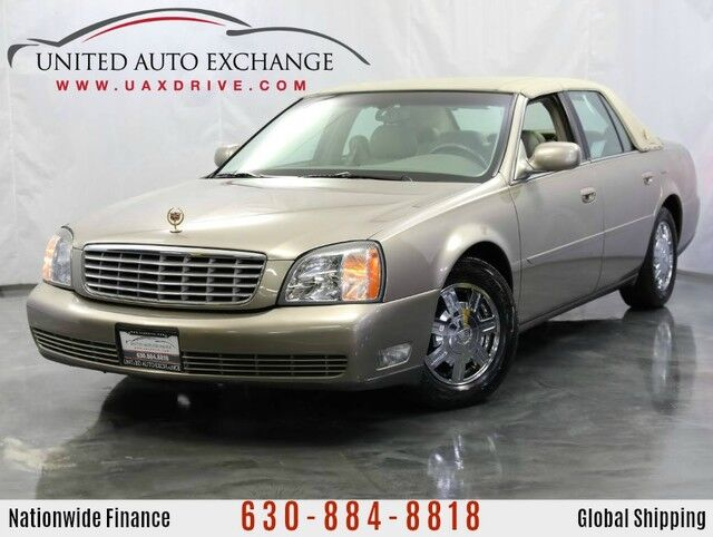 2004 Cadillac DeVille 4.6L V8 Northstar Engine 375hp FWD ** CLOTH TOP ** w/ Factory Chrome Plated Wheels, Heated and Cooled Front Seats, Rear Parking Assist, Electronic Tri-Zone Climate Addison IL