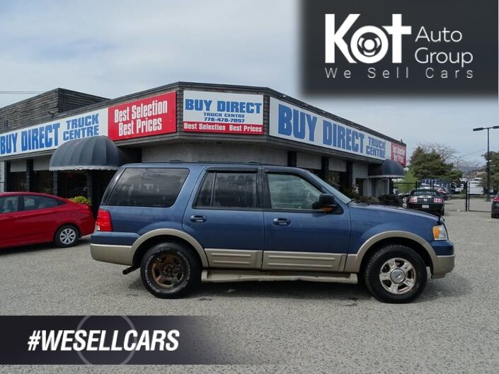 2004 Ford Expedition Eddie Bauer, Heated Leather Seats, Sunroof, Dual Climate Control Kelowna BC